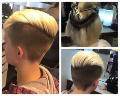 When at home bleach goes wrong(and it will), you get an undercut! #salonbogar, tracy dion