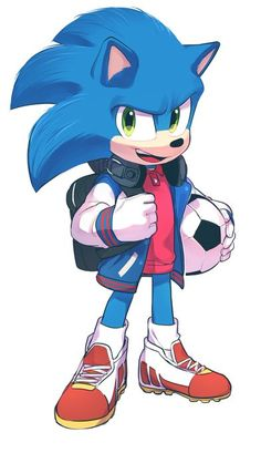 Sonic The Hedgehog by Sonic The Hedgehog, Hedgehog Movie, Hedgehog Art, Shadow The Hedgehog, Silver The Hedgehog, Sonic Team, Sonic Heroes, Sonic And Shadow, Sonic And Amy