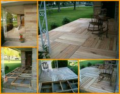 Here's another way to recycle pallets - this time they are turned into a porch! http://theownerbuildernetwork.co/9548