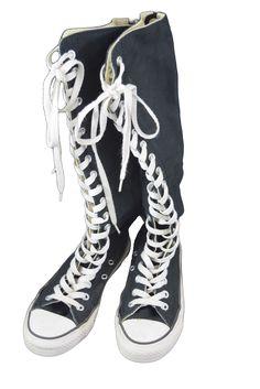 Calf length Converse sneakers