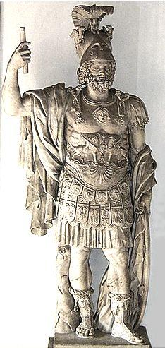statue of Mars Roman god of war