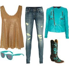 Country outfit...love the boots! ~~country fashion~~