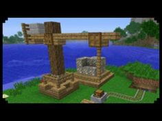 Here's something every Minecrafter needs!  A Minecraft quarry with a crane. http://minecraftwiz.com/category/buildings-cities/