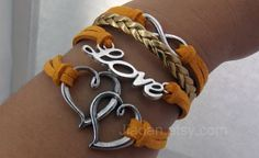 bracelet  ancient silver soulmate love infinite by jewellrydesign, $9.99
