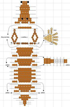 perles - Page 3 Pony Bead Patterns, Bead Embroidery Patterns, Beaded Jewelry Patterns, Beading Patterns, Sequin Crafts, Beaded Crafts, Beaded Ornaments, Beading Projects, Beading Tutorials