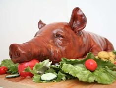 The Suckling Pig Cake by Michelle Wibowo is a Pork-Free Treat trendhunter.com