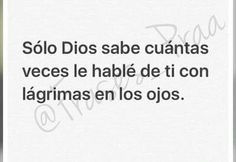 Solo Dios Sabe