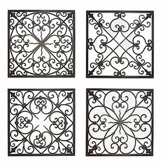 Design Ideas for Wrought Iron Project. @Nikki Brehm for in between the candles on your wall?