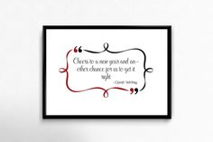 """Vanilla Vision: Free printable quote """"Cheers to a new year and ano..."""