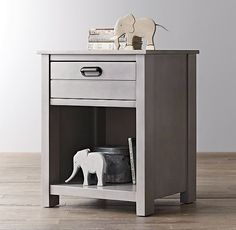 RH baby&child's Haven Nightstand:Designed with a minimum of adornment and a…