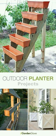Garden Diy Outdoor Planter Projects Tons of ideas & Tutorials!Garden Diy Outdoor Planter Projects Tons of ideas & Tutorials! Outdoor Planters, Garden Planters, Garden Art, Outdoor Gardens, Home And Garden, Outdoor Decor, Diy Planters, Outdoor Pergola, Diy Pergola