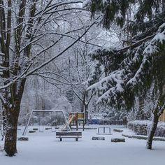 munich | germany | münchen | deutschland | untergiesing | spielplatz am auer mühlbach im winter