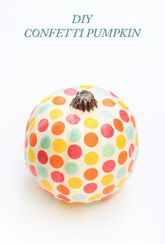 A DIY pumpkin for people that prefer things to be pretty instead of scary.