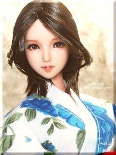 "● by RUELIE ● 1/6 custom obitsu doll head ● Mayuki mayuki ""Buyee"" Japan Shopping Service"