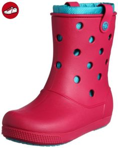 AllCast Waterproof Duck Boot Women, Femme Bottes, Marron (Espresso/Red), 38-39 EUCrocs