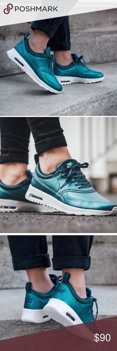 Nike air max Thea metallic blue teal size 10 NEW NWOB  NEW  size 10  Metallic teal Nike Shoes Sneakers