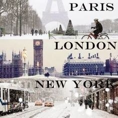 Winter in Paris, London & New York love quote winter paris snow london cold new york places poem