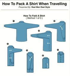 How-To: Pack a Shirt when Travelling