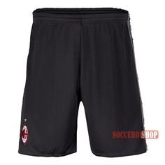 Special Offer: Top Quality Ac Milan Black Soccer Shorts 2016-2017 Home | Soccero-Shop