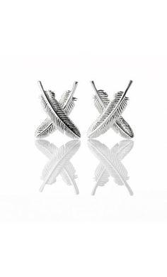 Boh Runga Feather Kisses earrings from Walker and Hall Jeweller - Walker & Hall Silver Earrings, Stud Earrings, The Bling Ring, Fru Fru, Kiwiana, Modern Jewelry, Jewelry Collection, Studs, Branding Design