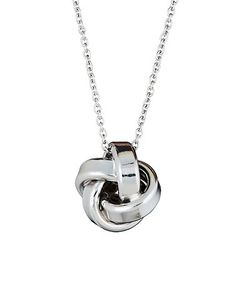 c588a764df169 Loving this Sterling Silver Love Knot Pendant Necklace on  zulily!   zulilyfinds