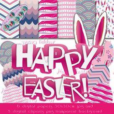 Happy Easter. Easter digital papers. Easter cliparts. Feliz Pascua. Fondos digitales. Easter scrapbook. Pasqua. Easter.
