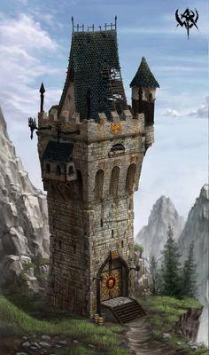 gameSlave, Warhammer Online: Age of Reckoning - Artwork image. Fantasy City, Fantasy Castle, Fantasy House, Fantasy Places, Fantasy Rpg, Fantasy World, Medieval Houses, Medieval Art, Medieval Fantasy