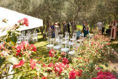 Ceremony invintage flower garden. Buranco Vineyard, Monterosso, Cinque Terre. By Cinque Terre Wedding www.cinqueterrewedding.com