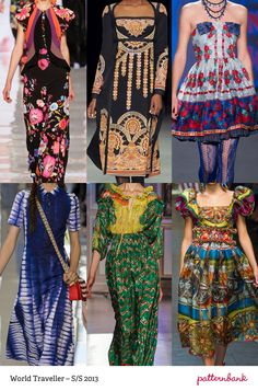 Oriental Origins / Hand-painted Florals / Vivid Colour / Indian Jewelled Prints / Magpie Mixes / Stylish Tie-Dye / Folk Inspired / Pictorial Prints