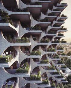 Penda has designed a residential tower in Tel Aviv, with facades made of modular archways, which aims to compliment the city's Bauhaus architecture. Architecture Durable, Art Et Architecture, Futuristic Architecture, Sustainable Architecture, Beautiful Architecture, Architecture Details, Residential Architecture, Concrete Architecture, Kinetic Architecture