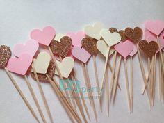 40 PCS main belle rose coeur Cupcake toppers, Fille baby shower décorations, Articles de fête fête d'anniversaire de mariage décoration dans Accessoires de fêtes et d'évènement de Maison & Jardin sur AliExpress.com | Alibaba Group