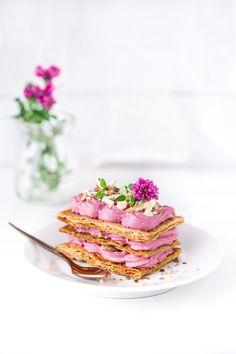 Mille-feuille, ciasto francuskie z kremem