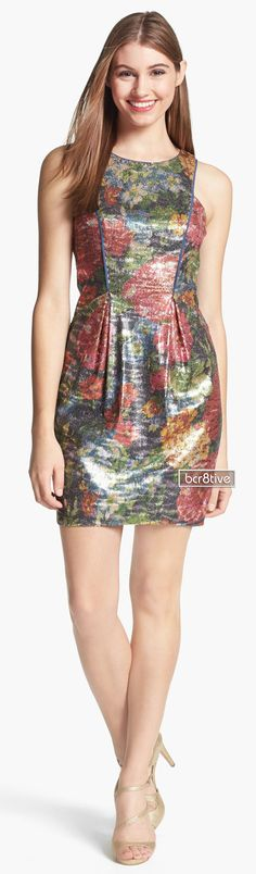 Jessica Simpson   Sequin Print Sheath Dress