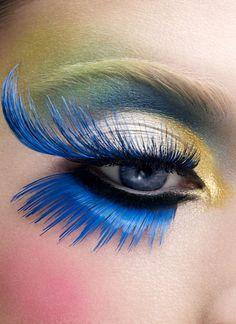 """""""So Much Fun!""""                                  Creative eyeshadow - False eyelashes"""