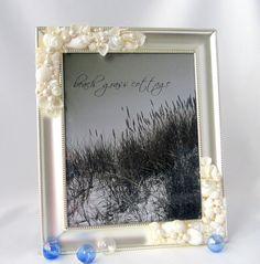 Seashell Frame for Beach Wedding  Shell by beachgrasscottage, $75.00