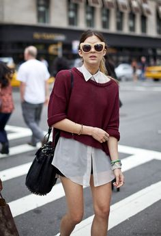 summer to fall style: oxblood sweater