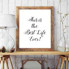 Jw | This is the BEST LIFE EVER | Quote | Original Songs | jw org | Jehovah's Witnesses | Print | Gift | Printable | 0067 by AllThingsEverAfter on Etsy