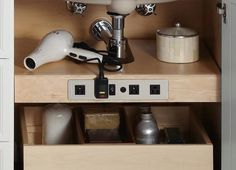 Clever! Kohler Tailored Vanity Electrical Outlet Shelf, Remodelista ... toothbrush