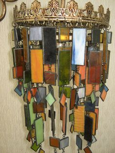 Gorgeous standing lamp with stained glass shade | eBay