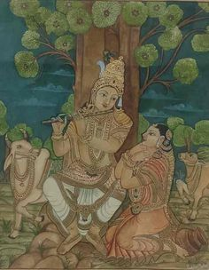 Mysore Painting, Krishna Painting, Madhubani Painting, Yashoda Krishna, Traditional Paintings, Karnataka, Ganesha, Indian Art, Female Art