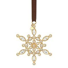 bejeweled ice queen snowflake ornament from kate spade, $40