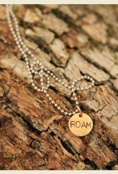 roam necklace - handstamped