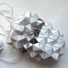 Geodesic Mirrored-Stripe Pendant Lamp - (Small/Medium/Large)