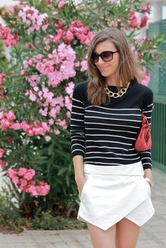 Teen Fashion, Fashion Beauty, Fashion Looks, Zara White, Fall Winter Outfits, Summer Outfits, Skort Outfit, Preppy Style, My Style