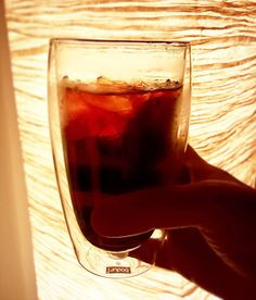 This double walled Pavina glass is perfect for hot and cold drinks :)#NotJustForCoffee  #cheers #weekends
