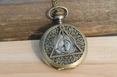 the Harry Potter jewelry The Deathly Hallows pocket watch necklace antique steampunk friendship vintage style $4.70
