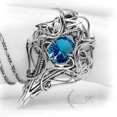 THARDNYRTH - Silver, Blue Quartz and Topaz. by LUNARIEEN.deviantart.com on…