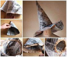 16 Idées à tomber pour réutiliser les vieux journaux