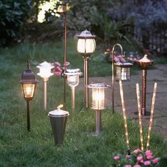 Garden party pathway lit by traditional and modern outdoor lanterns Garden Party Decorations, Garden Parties, Party Garden, Autumn Garden, Summer Garden, Outdoor Garden Decor, Rustic Outdoor, Garden Lanterns, Night Garden