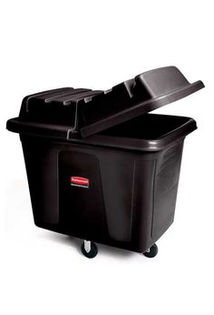 Rubbermaid Commercial MDPE Laundry and Waste Collection Cube Truck, Rectangular, Width x Depth x Height, Black Small Table And Chairs, Small Kitchen Tables, Round Kitchen, Dining Table, Laundry Cart, Laundry Hacks, Cubes, Poultry Equipment